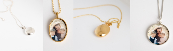 lockets with photos inside